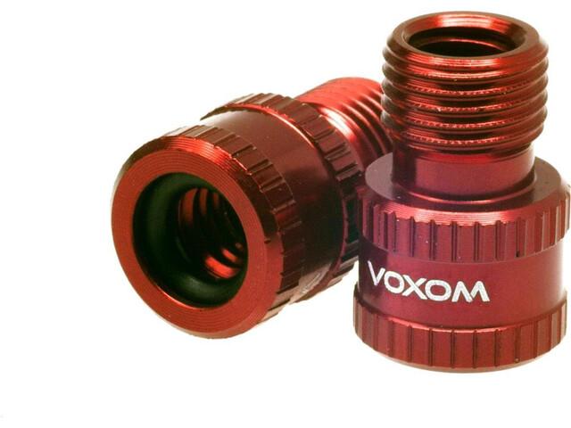 Voxom Vad 1 Presta zu Schrader Ventiladapter rot